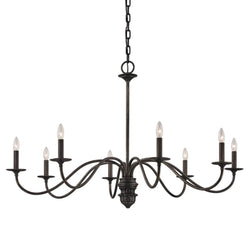 Troy Lighting F6826 Poppy Hill 8lt Chandelier in Hand-Worked Iron