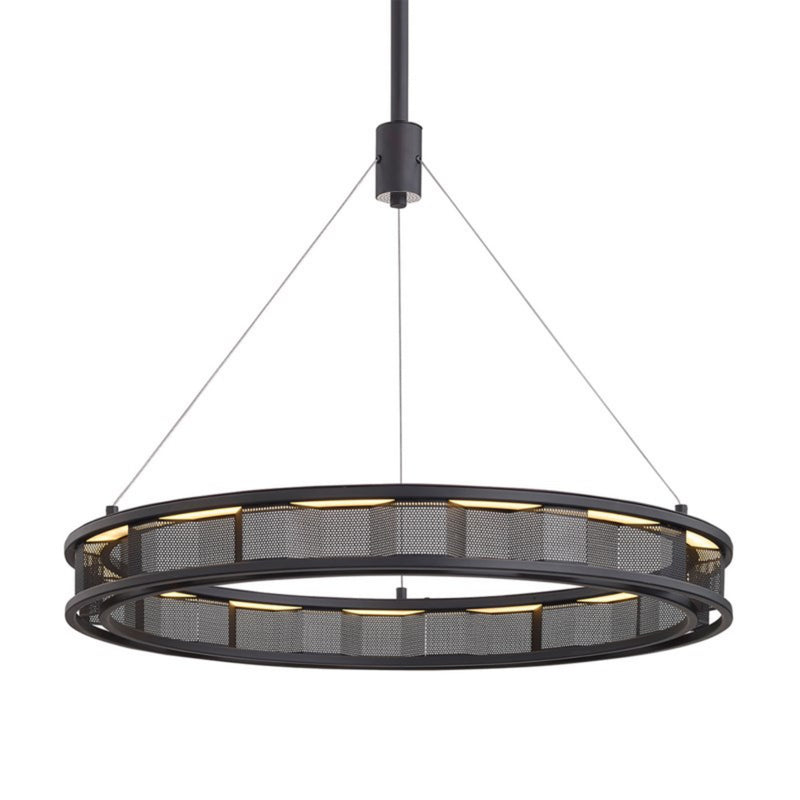 Troy Lighting F6863 Fuze 1lt Pendant in Hand-Worked Iron
