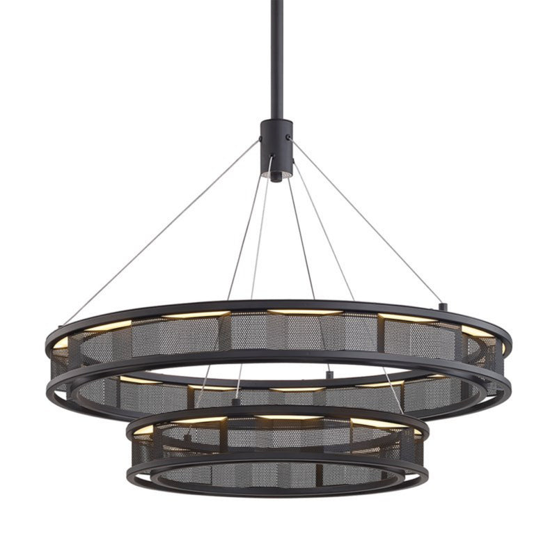 Troy Lighting F6864 Fuze 1lt Pendant in Hand-Worked Iron