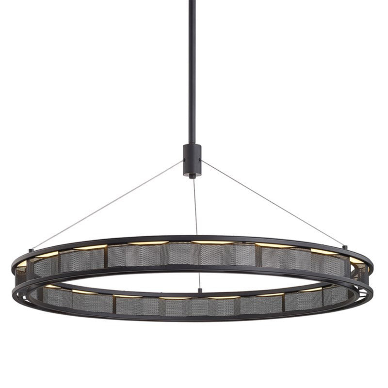 Troy Lighting F6865 Fuze 1lt Pendant in Hand-Worked Iron