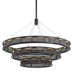 Troy Lighting F6866 Fuze 1lt Pendant in Hand-Worked Iron