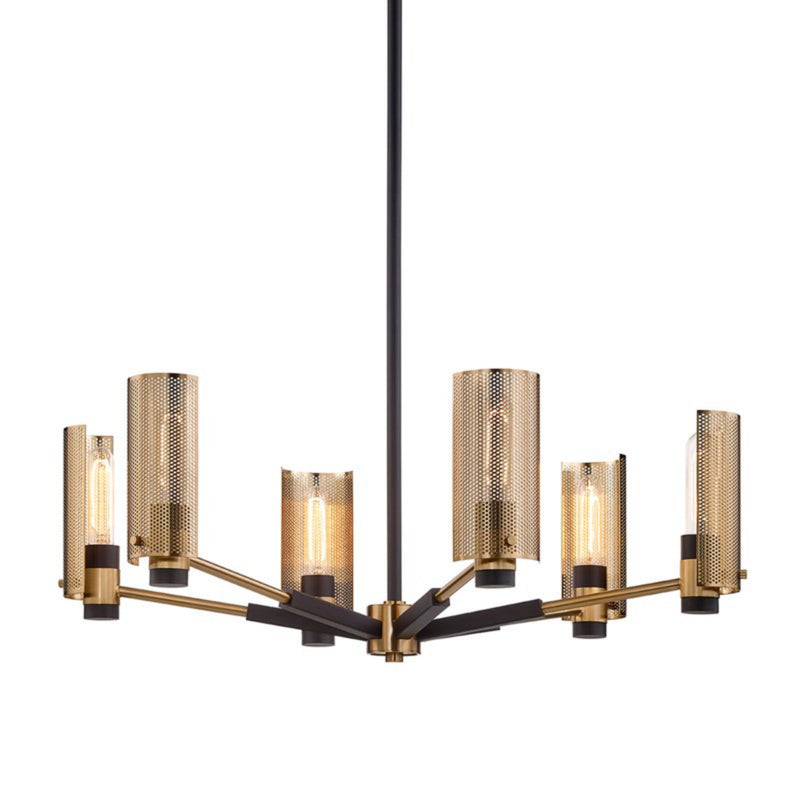 Troy Lighting F6876 Pilsen 6lt Chandelier in Hand-Worked Iron