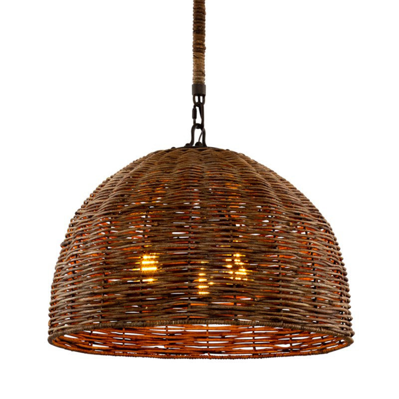 Troy Lighting F6903 Huxley 3lt Pendant in Hand-Worked Iron