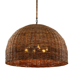 Troy Lighting F6906 Huxley 6lt Pendant in Hand-Worked Iron