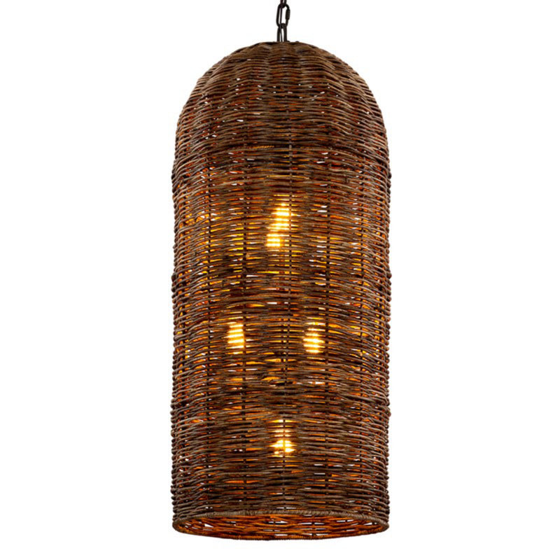 Troy Lighting F6907 Huxley 5lt Pendant in Hand-Worked Iron