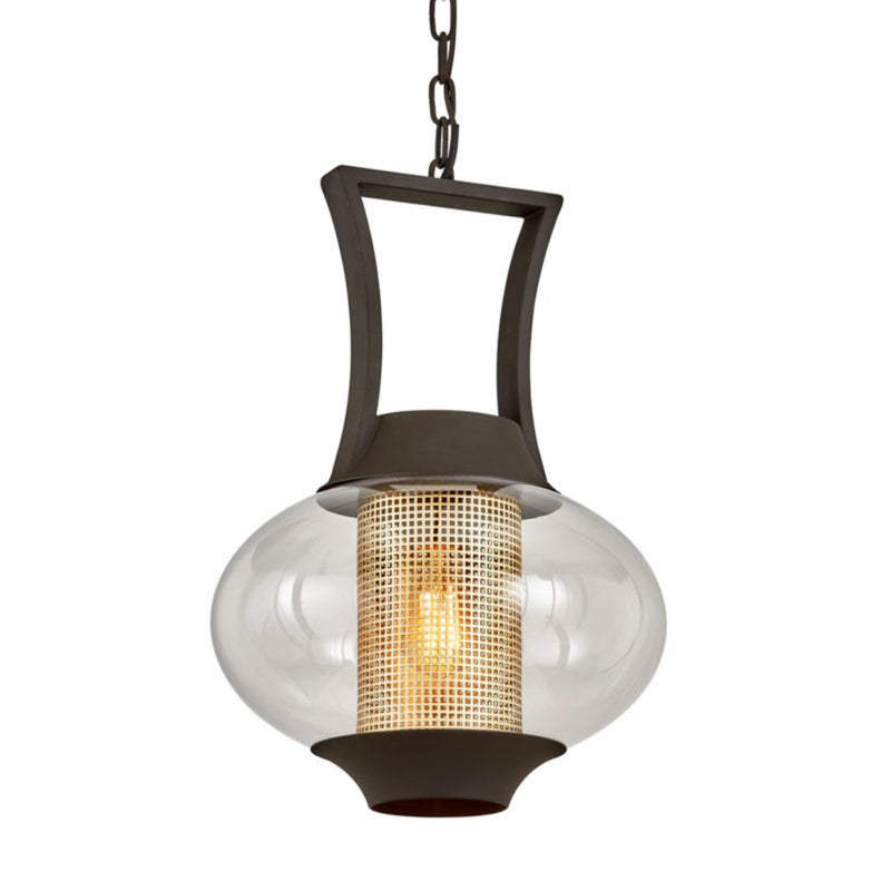 Troy Lighting F7027 Horton 1lt Hanger in Hand-Worked Iron And Brass