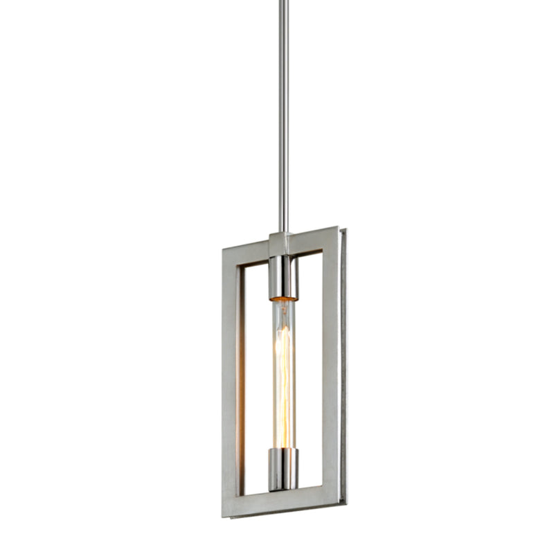 Troy Lighting F7103 Enigma 1lt Mini Pendant in Hand-Worked Iron