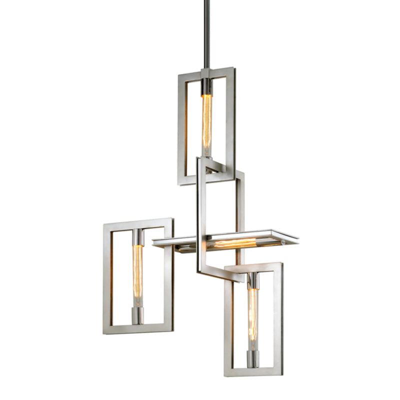 Troy Lighting F7104 Enigma 4lt Pendant in Hand-Worked Iron