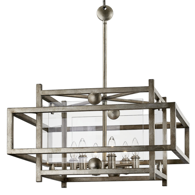 Troy Lighting F7136 Crosby 6lt Pendant Dining in Hand-Worked Iron