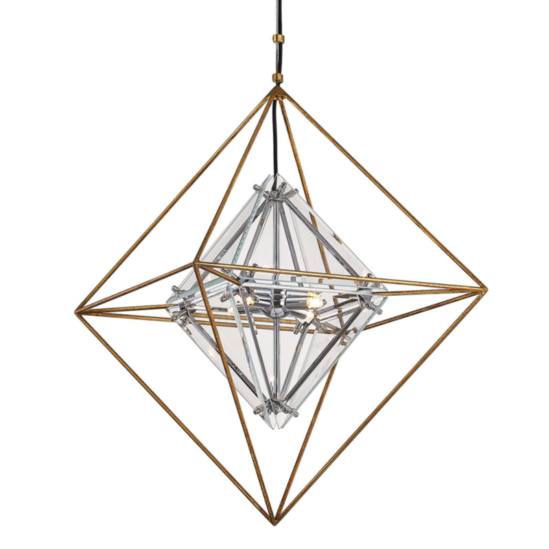 Troy Lighting F7145 Epic 4lt Pendant Small in Hand-Worked Iron