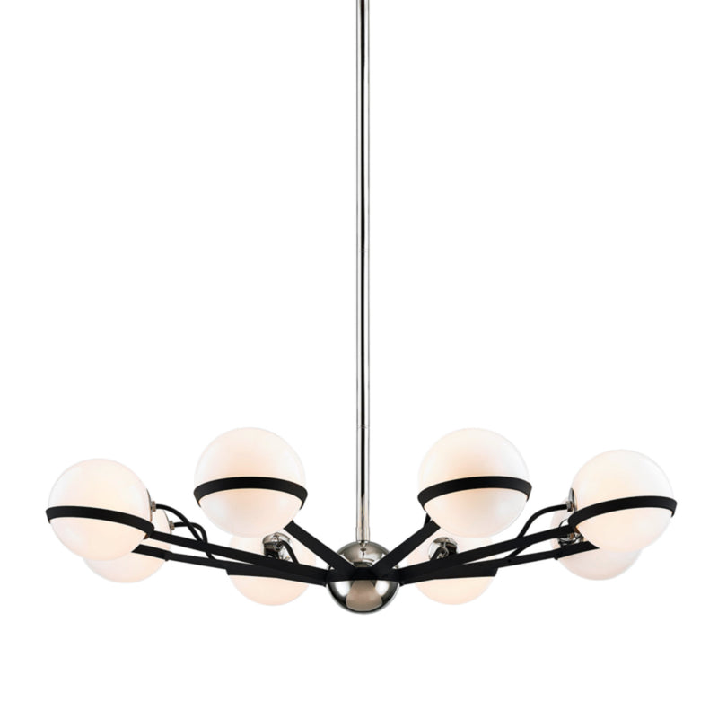 Troy Lighting F7164 Ace 8lt Chandelier Medium in Hand-Worked Iron