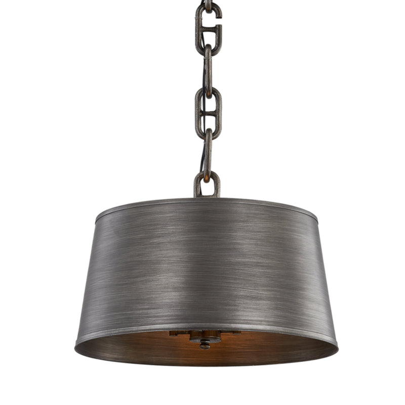Troy Lighting F7204 Admirals Row 4lt Pendant Antique Pewter in Hand-Worked Iron