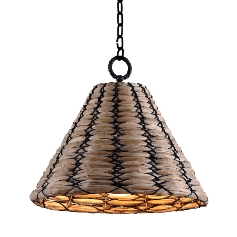 Troy Lighting F7213 Solana 1lt Pendant in Hand-Worked Iron