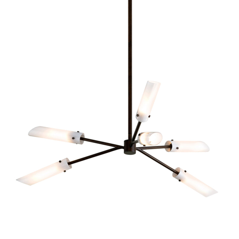 Troy Lighting F7226 High Line 6lt Chandelier in Hand-Worked Iron