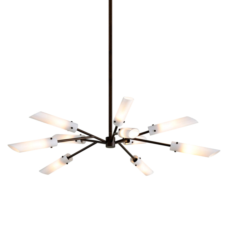 Troy Lighting F7227 High Line 10lt Chandelier in Hand-Worked Iron