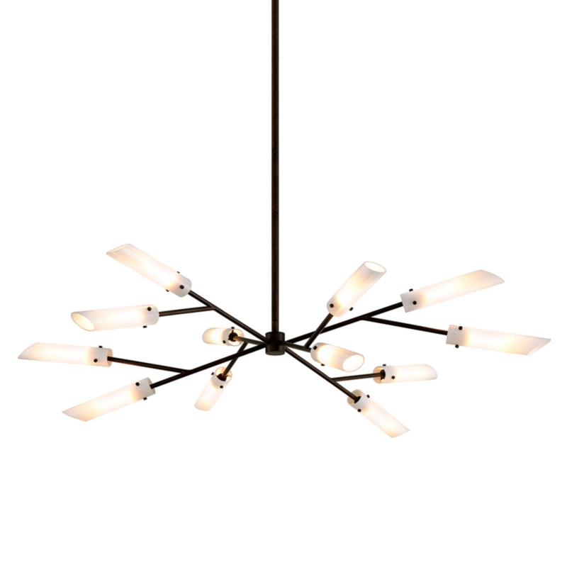 Troy Lighting F7228 High Line 12lt Chandelier in Hand-Worked Iron