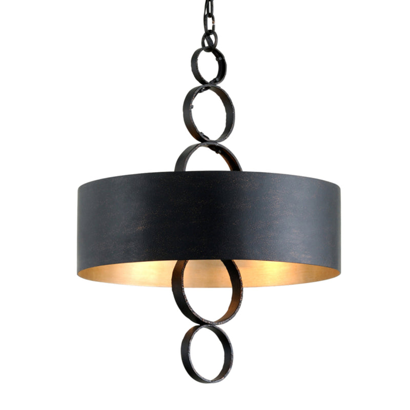 Troy Lighting F7234 Rivington 4lt Pendant in Hand Forged Iron