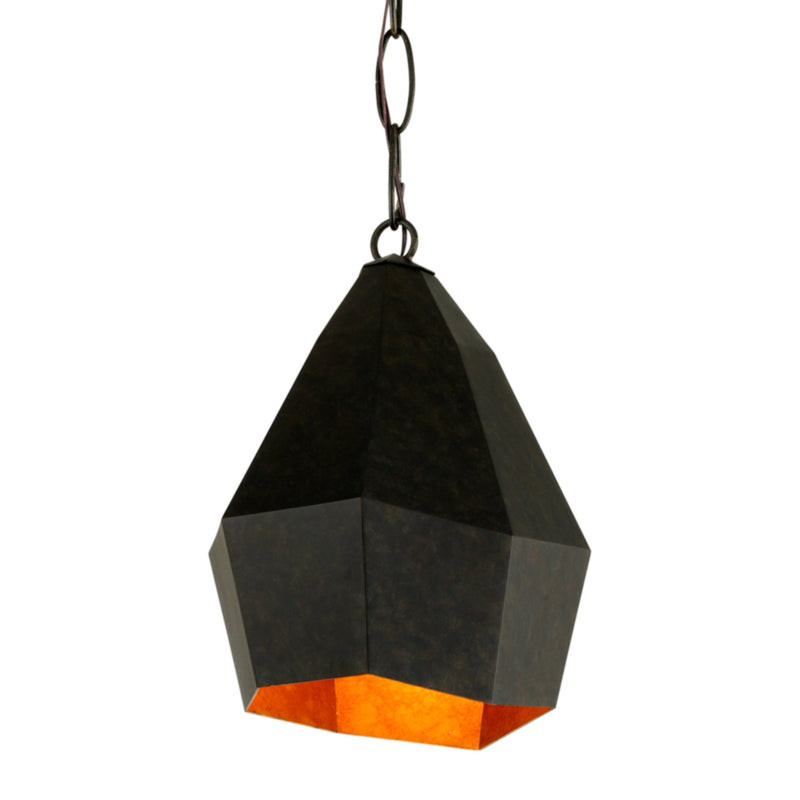 Troy Lighting F7243 Indigo 1lt Pendant in Hand-Worked Iron