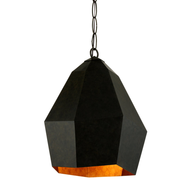 Troy Lighting F7244 Indigo 1lt Pendant in Hand-Worked Iron