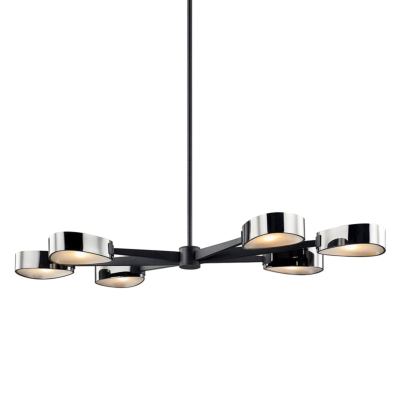 Troy Lighting F7336 Allisio 6lt Linear in Hand-Worked Iron