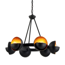 Troy Lighting F7456 Sunset Blvd 6lt Chandelier in Hand-Worked Iron
