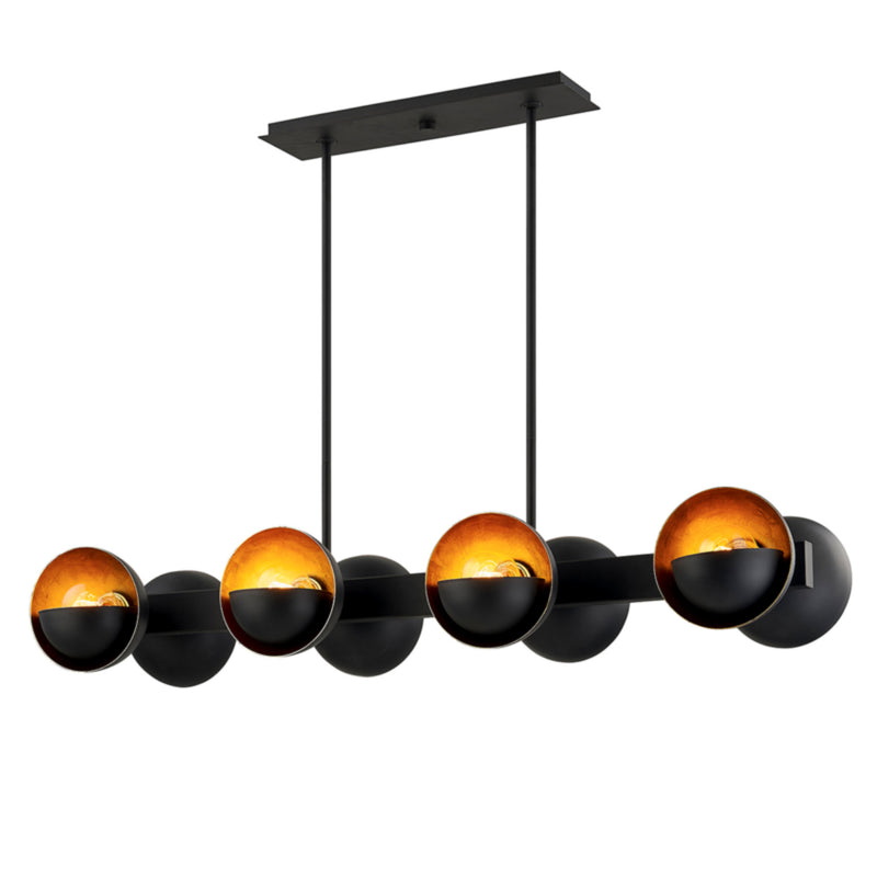 Troy Lighting F7459 Sunset Blvd 8lt Linear in Hand-Worked Iron