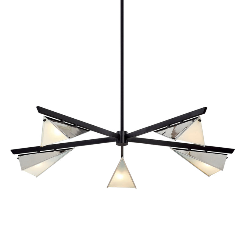 Troy Lighting F7465 Kite 5lt Chandelier in Hand-Worked Iron