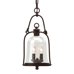 Troy Lighting F9466NB Owings Mill 2lt Hanging Lantern Medium in Hand-Forged Iron