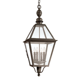Troy Lighting F9628NB Townsend 4lt Hanging Lantern Extra Large in Hand-Worked Iron