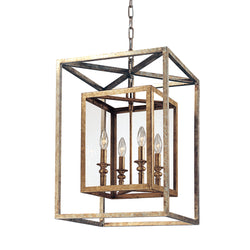 Troy Lighting F9994GSL Morgan 4lt Pendant Medium in Hand-Worked Iron