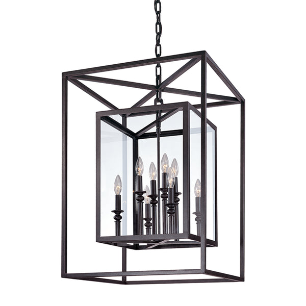 Troy Lighting F9998DB Morgan 8lt Pendant Large in Hand-Worked Iron