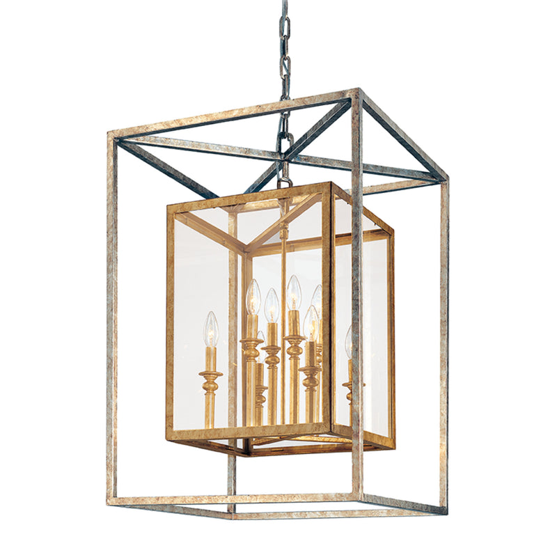 Troy Lighting F9998GSL Morgan 8lt Pendant Large in Hand-Worked Iron