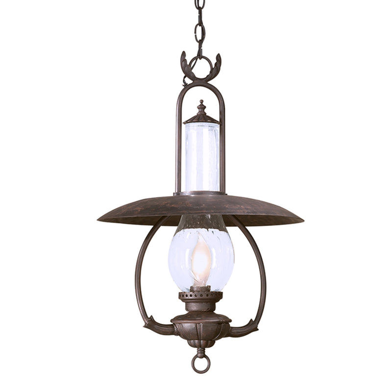 Troy Lighting FCD9013OBZ La Grange 1lt Hanging Lantern Large in Hand-Worked Iron