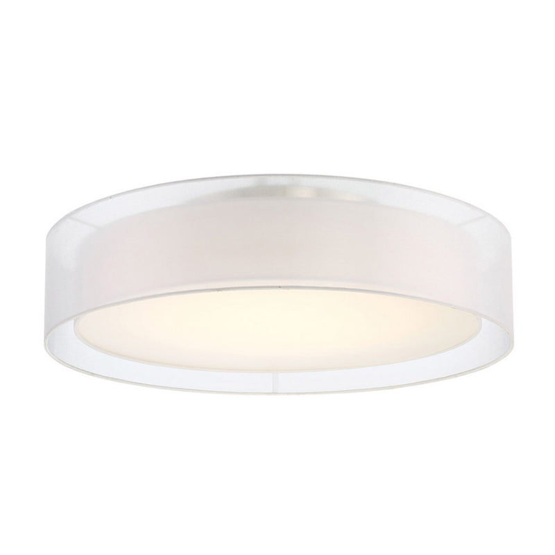 Modern Forms FM-16830-BN 3000K 47.5 Watt Metropolis LED Semi Flush Mount in Brushed Nickel
