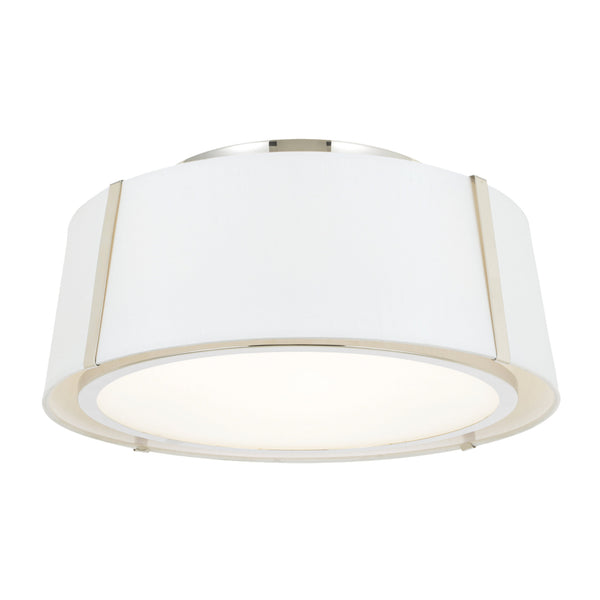 Crystorama FUL-905-PN Fulton Ceiling Mount in Polished Nickel