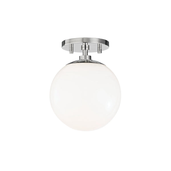 Mitzi by Hudson Valley Lighting H105601-PN Stella 1 Light Semi Flush in Polished Nickel
