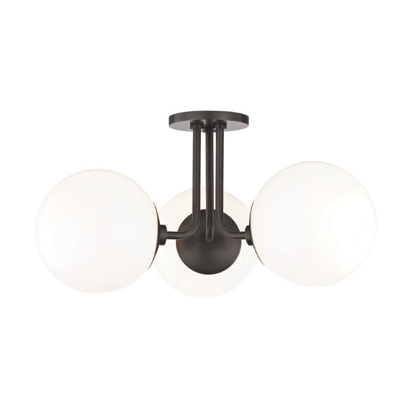 Mitzi by Hudson Valley Lighting H105603-OB Stella 3 Light Semi Flush in Old Bronze