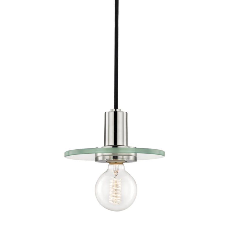Mitzi by Hudson Valley Lighting H113701S-PN Peyton 1 Light Small Pendant in Polished Nickel