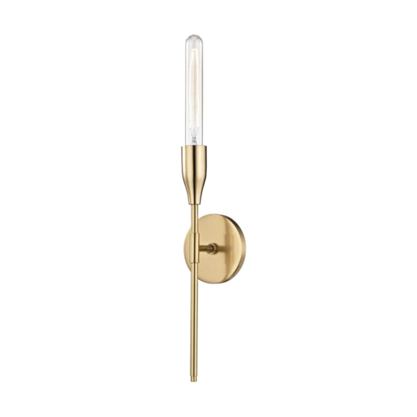 Mitzi by Hudson Valley Lighting H116101-AGB Tara 1 Light Wall Sconce in Aged Brass