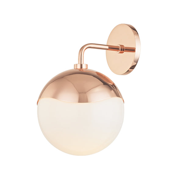 Mitzi by Hudson Valley Lighting H125101-POC Ella 1 Light Wall Sconce in Polished Copper