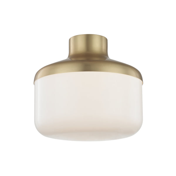 Mitzi by Hudson Valley Lighting H144501L-AGB Livvy 1 Light Flush Mount in Aged Brass