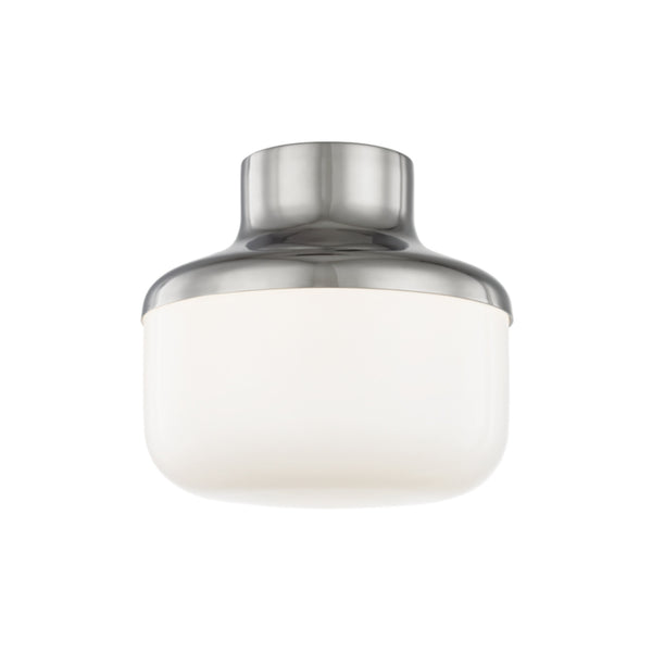 Mitzi by Hudson Valley Lighting H144501S-PN Livvy 1 Light Flush Mount in Polished Nickel