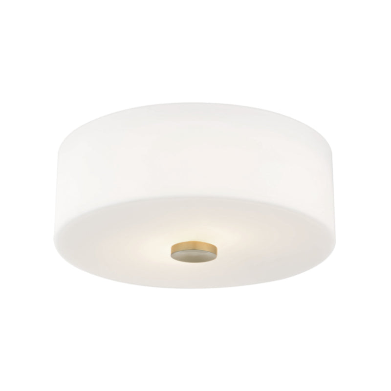 Mitzi by Hudson Valley Lighting H146502-AGB Sophie 2 Light Flush Mount in Aged Brass