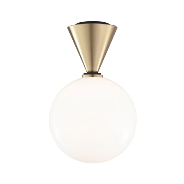 Mitzi by Hudson Valley Lighting H148501L-AGB/BK Piper 1 Light Large Flush Mount in Aged Brass/Black
