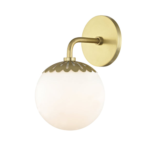 Mitzi by Hudson Valley Lighting H193301-AGB Paige 1 Light Bath Bracket in Aged Brass