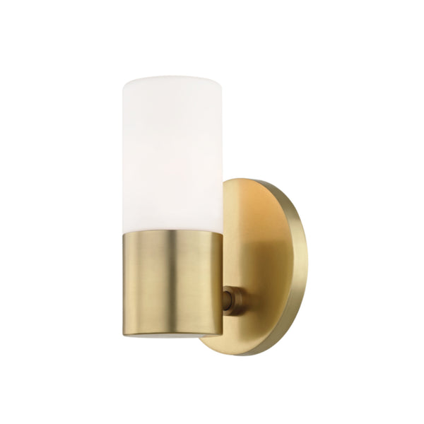 Mitzi by Hudson Valley Lighting H196101-AGB Lola 1 Light Wall Sconce in Aged Brass