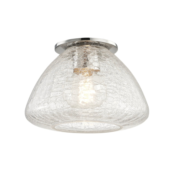 Mitzi by Hudson Valley Lighting H216501S-PN Maya 1 Light Small Flush Mount in Polished Nickel
