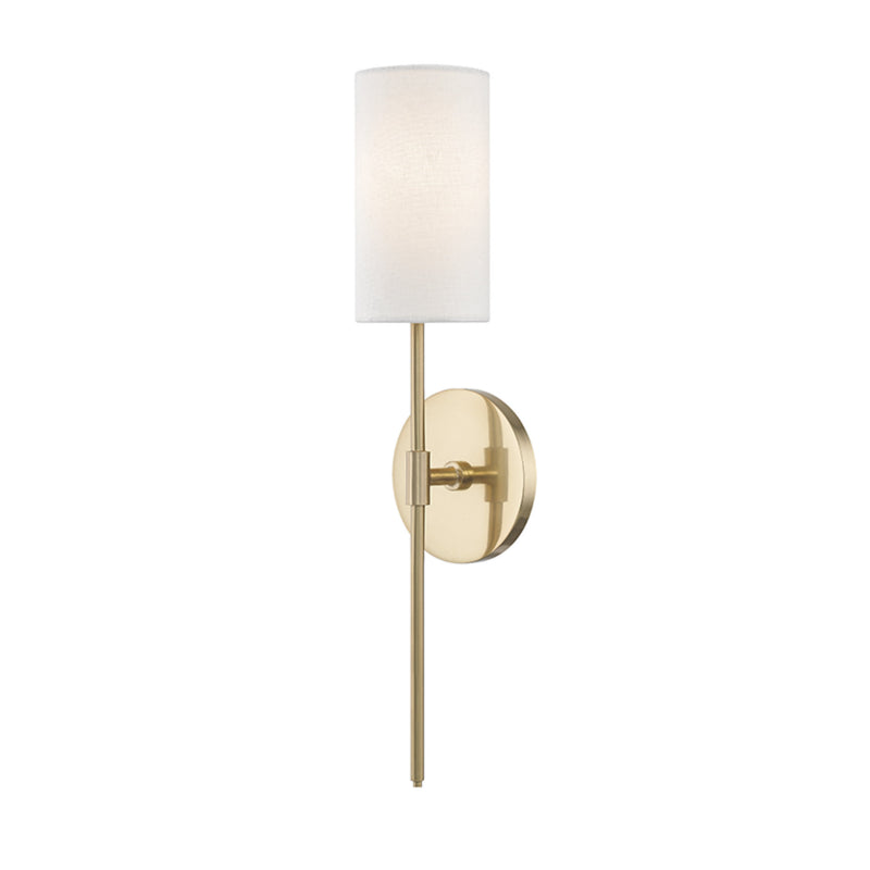 Mitzi by Hudson Valley Lighting H223101-AGB Olivia 1 Light Wall Sconce in Aged Brass