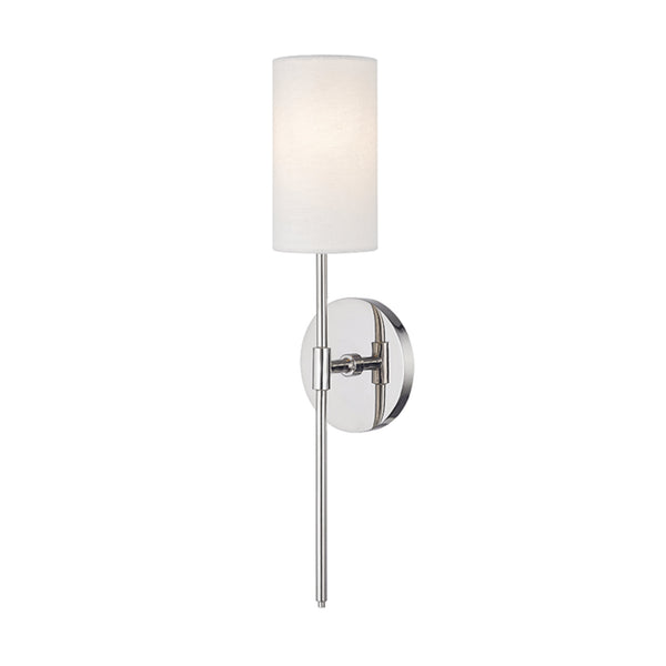 Mitzi by Hudson Valley Lighting H223101-PN Olivia 1 Light Wall Sconce in Polished Nickel