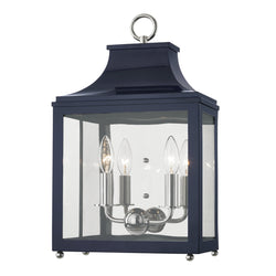 Mitzi by Hudson Valley Lighting H259102-PN/NVY Leigh 2 Light Wall Sconce in Polished Nickel/Navy